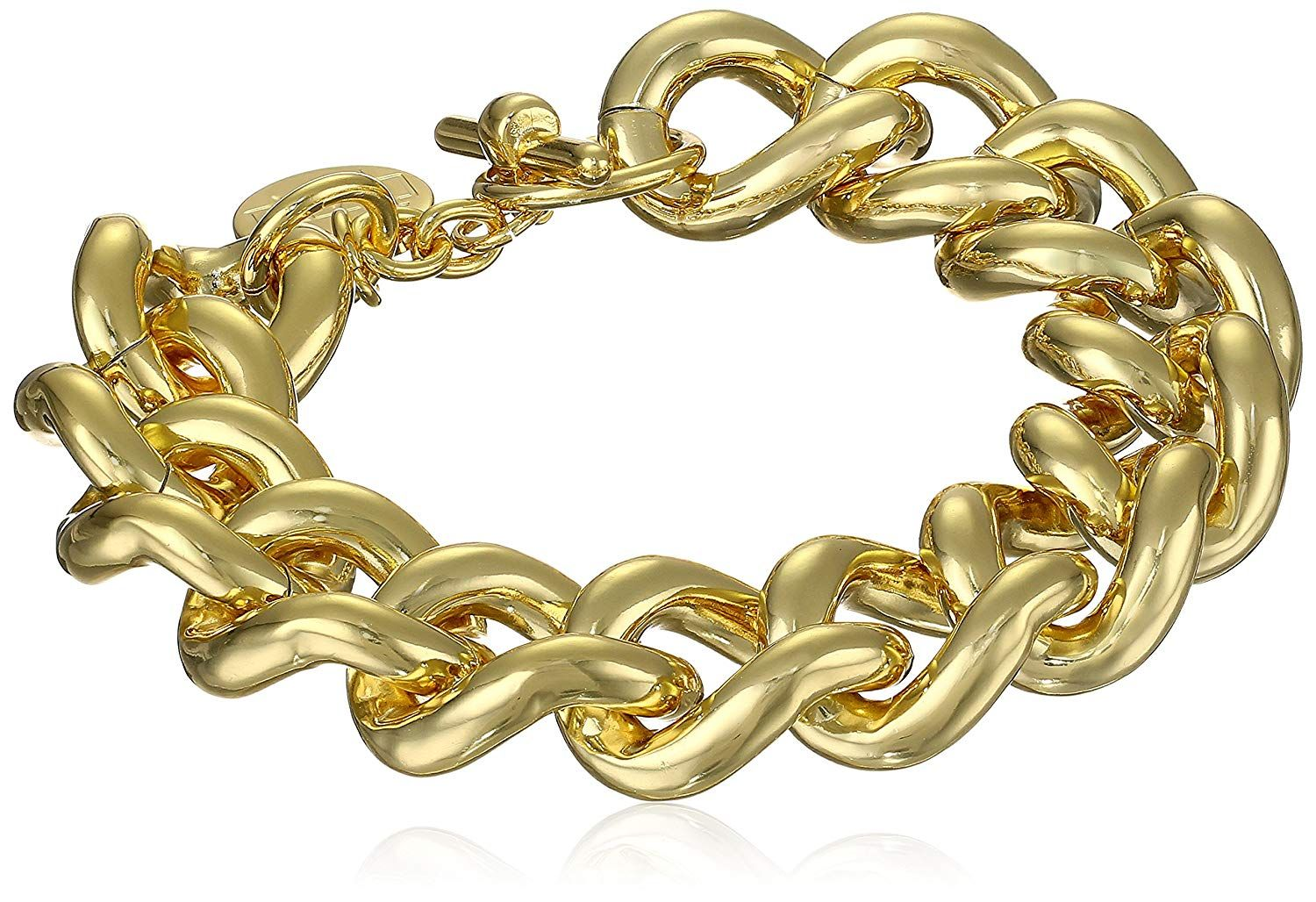 af16a09e3 Unoaerre 1AR by 18k Gold-Plated Groumette Chain Link Bracelet, 8.5' ***  Thanks for having visited our picture. (This is our affiliate link)  #linkbracelets