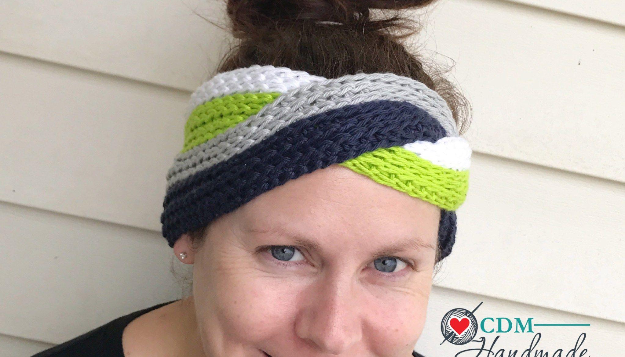 Interlocking Knit Look Headband - a FREE Crochet Pattern and Video ...