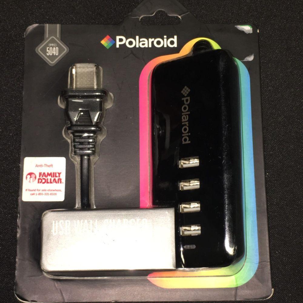 Polaroid Ppc5040 4 Port Usb Wall Charger Free Shipping Cell Phone Charger Polaroid Cell Phone Charger Wall Charger Usb Wall Charger