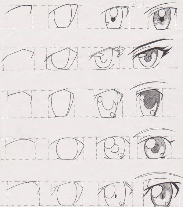 Anatoref Manga Eyes Top Image Row 2 Left Right Row 3 How