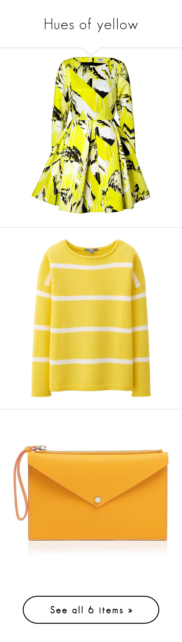 Yellow dress long sleeve  Hues of yellow