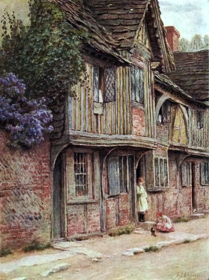 An Old House at West Tarring ~ Helen Allingham ~ (English: 1848-1926)