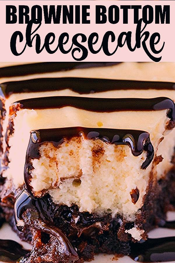 Brownie Bottom Cheesecake - So easy to make that youll feel like you are cheating! Enjoy the rich