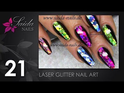 Laser glitter nailart saida nails nailart leicht gemalt laser glitter nailart saida nails nailart leicht gemalt youtube prinsesfo Choice Image