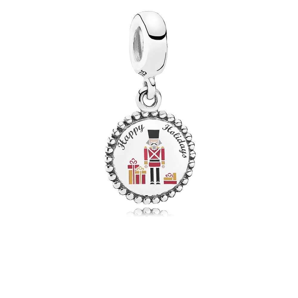 Nutcracker /& Candy Cane Charms with Bangle Bracelet