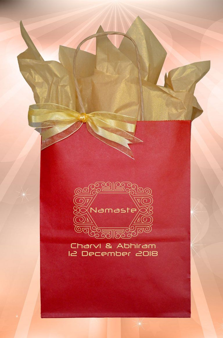 Welcome Bag Guest Gift Favor Namaste Indian Wedding