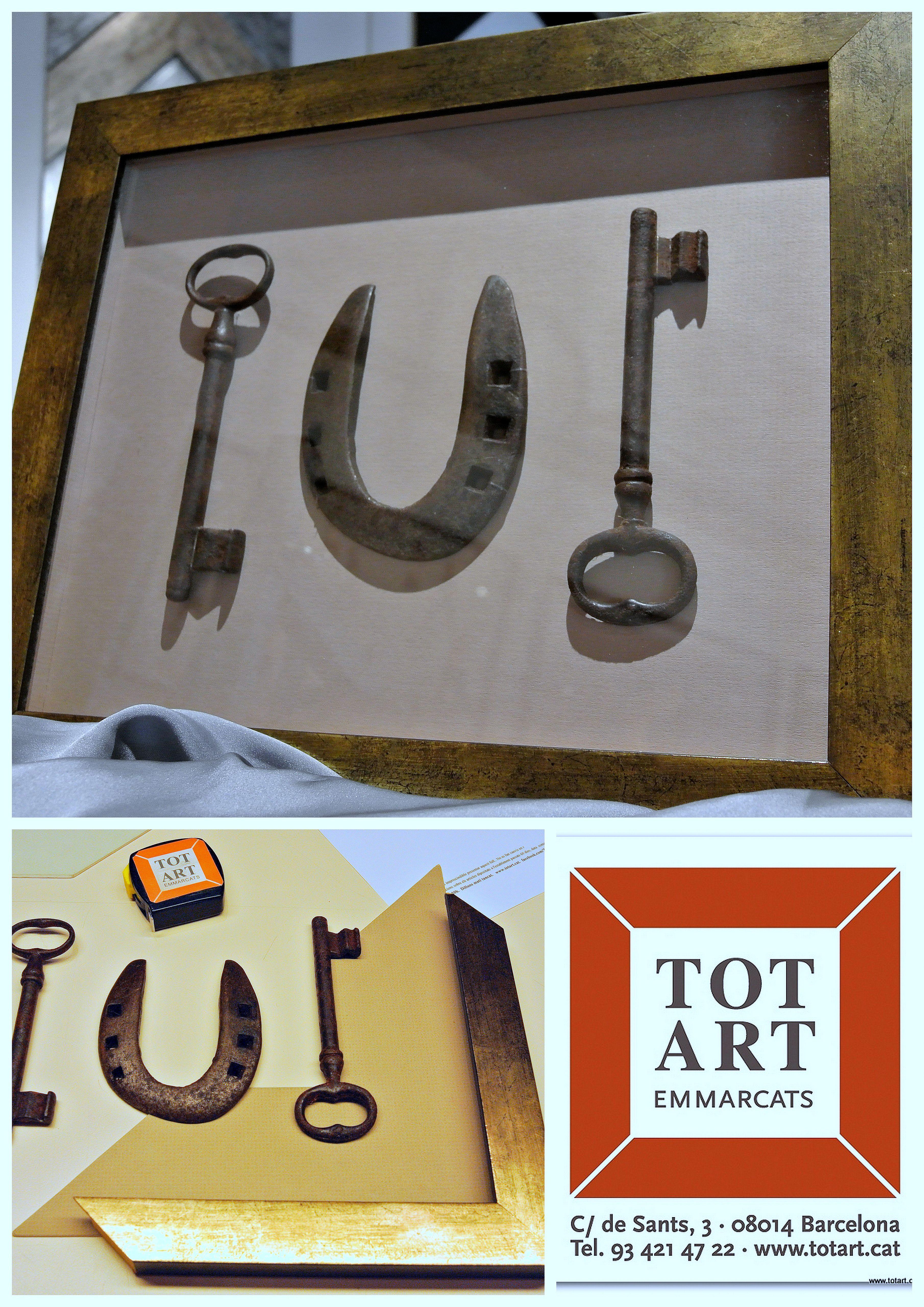 Enmarcamos llaves y herraduras par decorar tu hogar. Ideas para ...