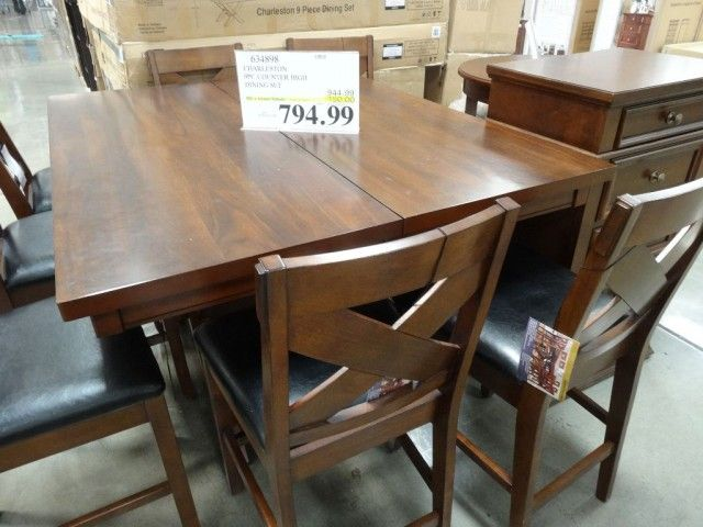 For Chairs And Tables Charleston 9 Piece Counter Height Dining Set Costco