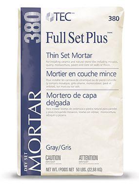 Full Set Plus Premium Unmodified Mortar Mortar Full Set Floor Preparation
