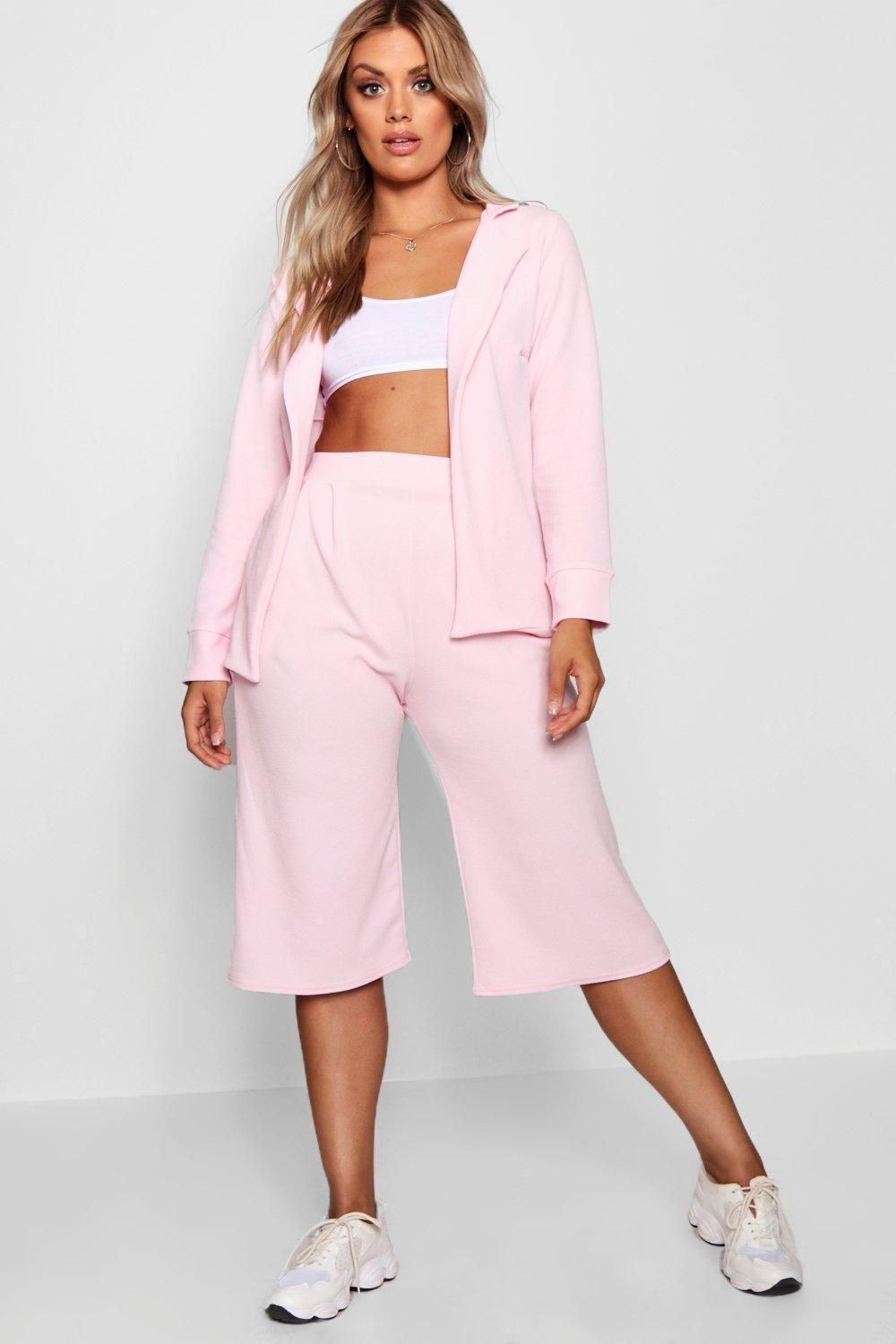 368f9799011 Click here to find out about the Plus Cara Open Blazer Culotte Suit Co-ord  from Boohoo