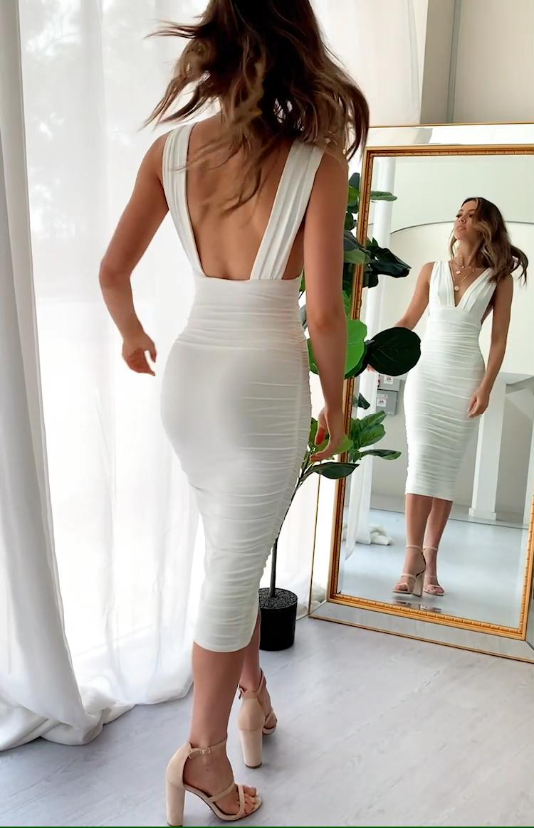 An Affair to Remember Midi Dress White – 10
