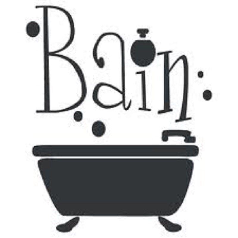 sticker dco autocollant vinyle adhsif salle de bain - Pochoir Salle De Bain