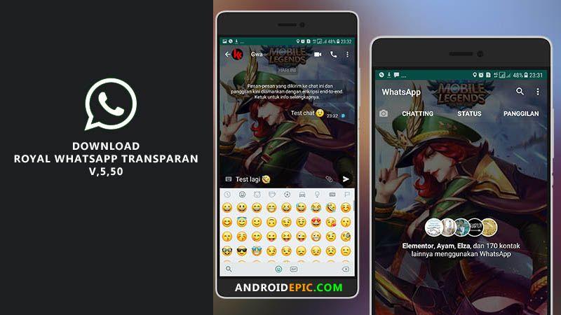 Download Royal Whatsapp Transparan Terbaru Aplikasi Pesan Instan Smartphone