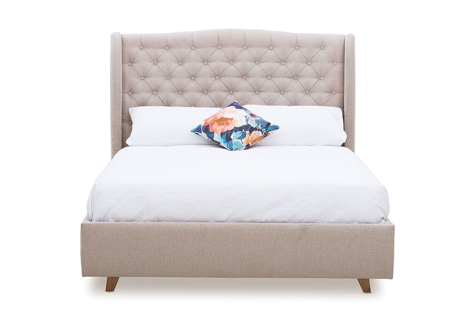 Aragon Fabric Queen Bed Amart Furniture In 2020 Cool Bedroom Furniture Furniture Bedroom Furniture