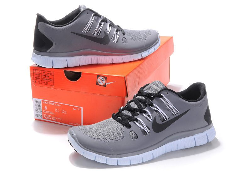 Grey Black Nike Free 5.0 Men's Running Shoes #Grey #Womens #Sneakers