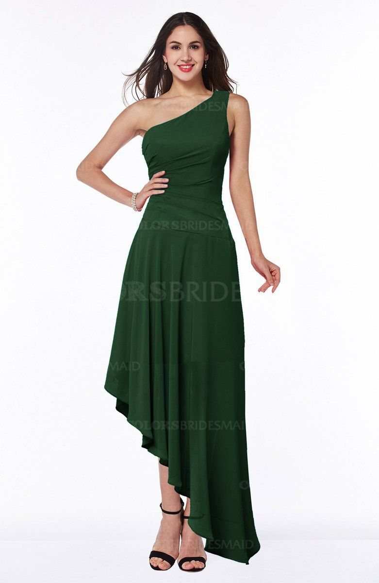 fe0535681894d The Chiffon, A-line Bridesmaid Dresses ends with Asymmetric hemline that  embellished with Ruching.