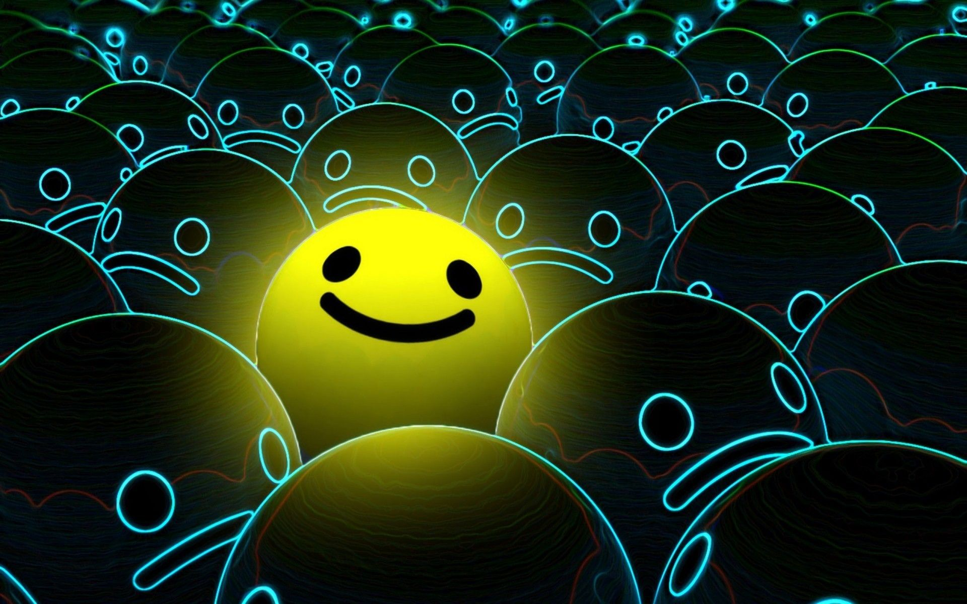 smiley face background hd wallpaper for mobile Facebook ...