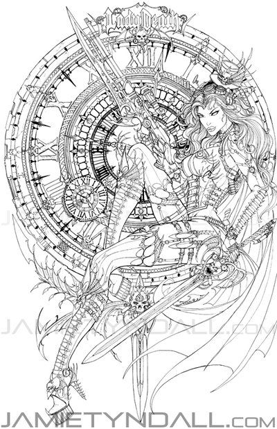 Lady Death: Heartbreaker 1 Steam Queen - ink by jamietyndall on ...