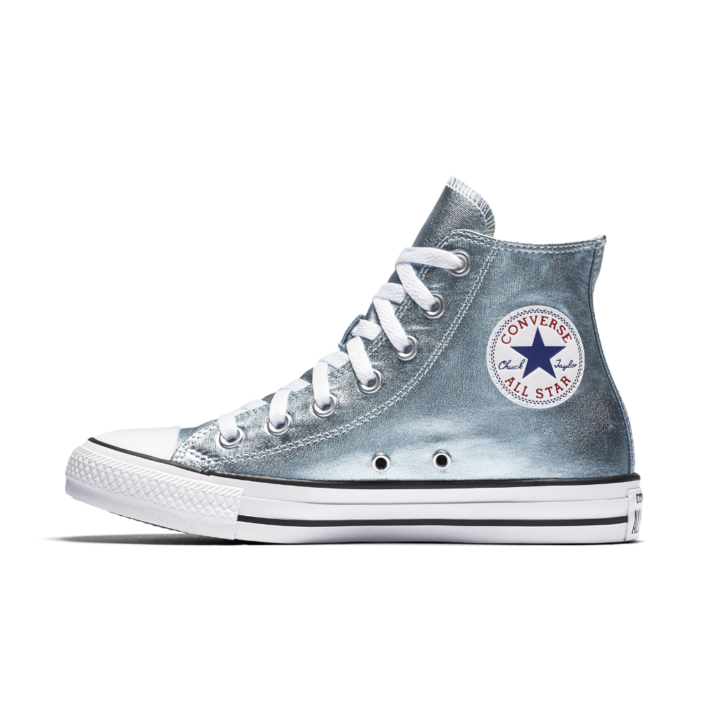 1c72d378cd17 Converse Chuck Taylor All Star Metallic High Top Women s Shoe Size 11.5  (Blue) - Clearance Sale