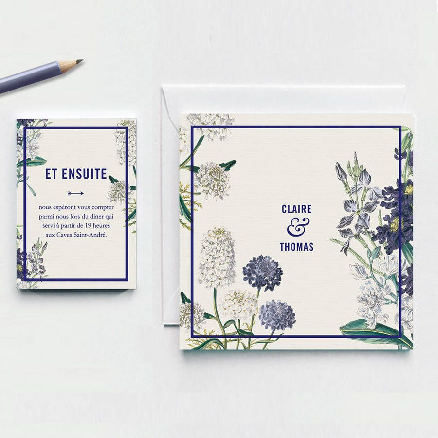 Botanical Garden Wedding Invitation. A Personalized Stunning Rustic Chic  Invitation With A Floral Design.