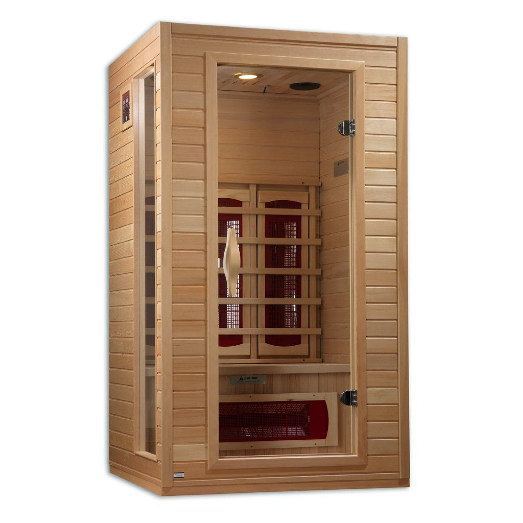 Flash Sale Golden Designs Dynamic Alicante 1 2 Person Bio Ceramic Far Infrared Sauna Dyn 9101 01 Modern Bath S Hot Tubs Saunas Infrared Sauna Sauna Design