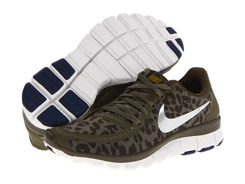 on sale 39a8e b1750 reduced nike free 5.0 v4 medium olive dark loden brave blue metallic silver  zappos free shipping