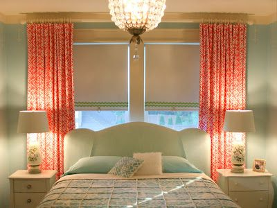 Coral And Gray Bedding With Navy Accents Curtains To Cover Wall Instead Of Painting