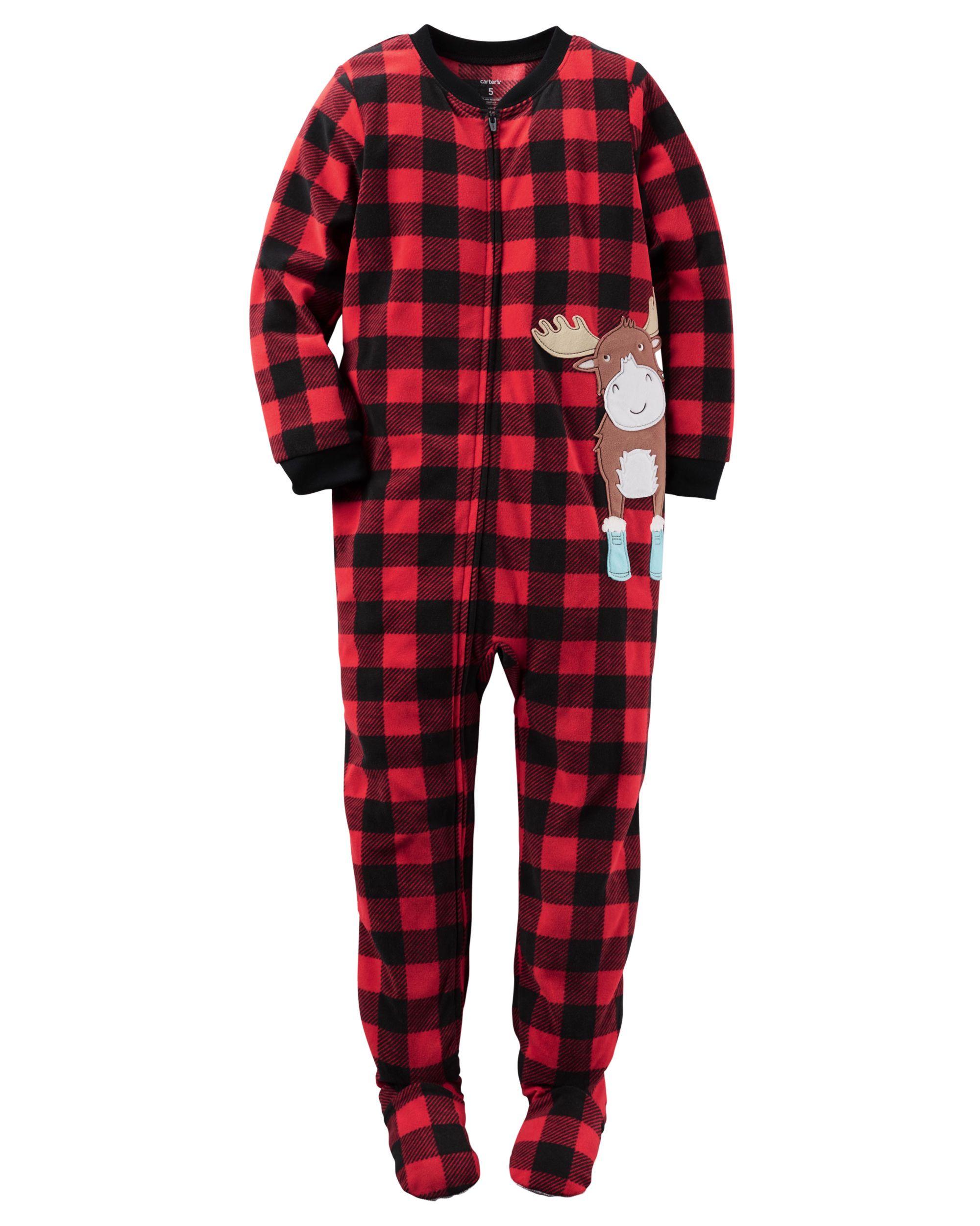 8e549891e Baby Boy 1-Piece Fleece PJs