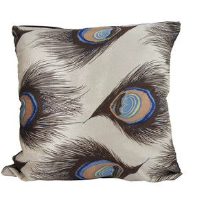Peacock Pillow Cover Light Brown, $23, now featured on Fab.