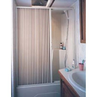 Rv Shower Door Folding Ivory 48 Quot X 57 Quot Camper Shower Door Folding Ivory 48 Quot X57 Quot Waterproof