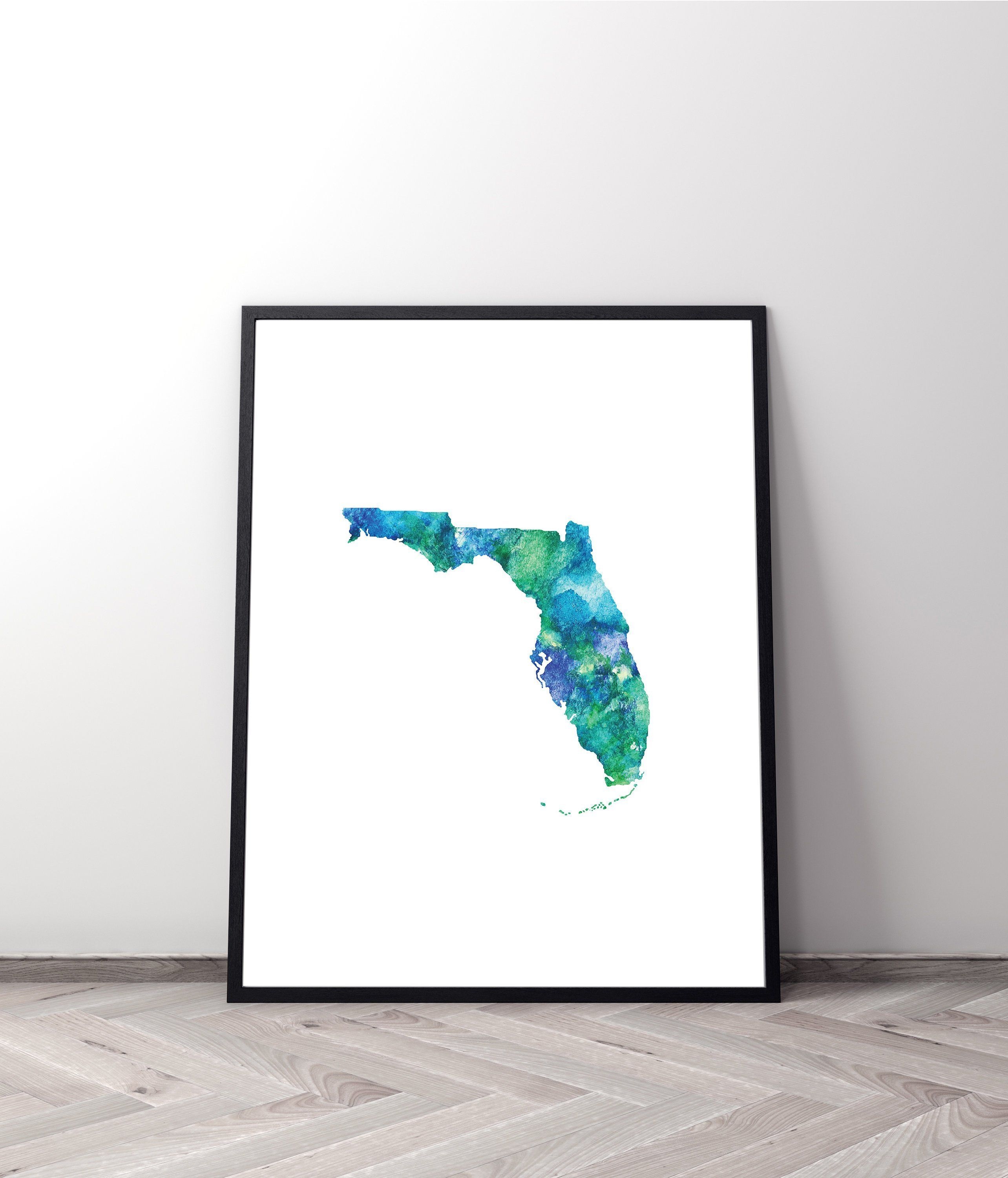 Florida State Map Printable Wall Art University Of Florida