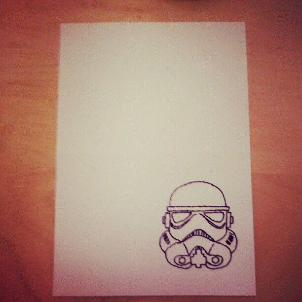 Crafty Mrs B: Star Wars Card Embroidery: Stormtrooper Birthday Card