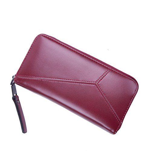 9a35c6970b0f1 ODN Damen Einhorn PU Leder Lang Geldbörse Clutches Mädchen Portemonnaie  Brieftasche Handtasche Geldbeutel