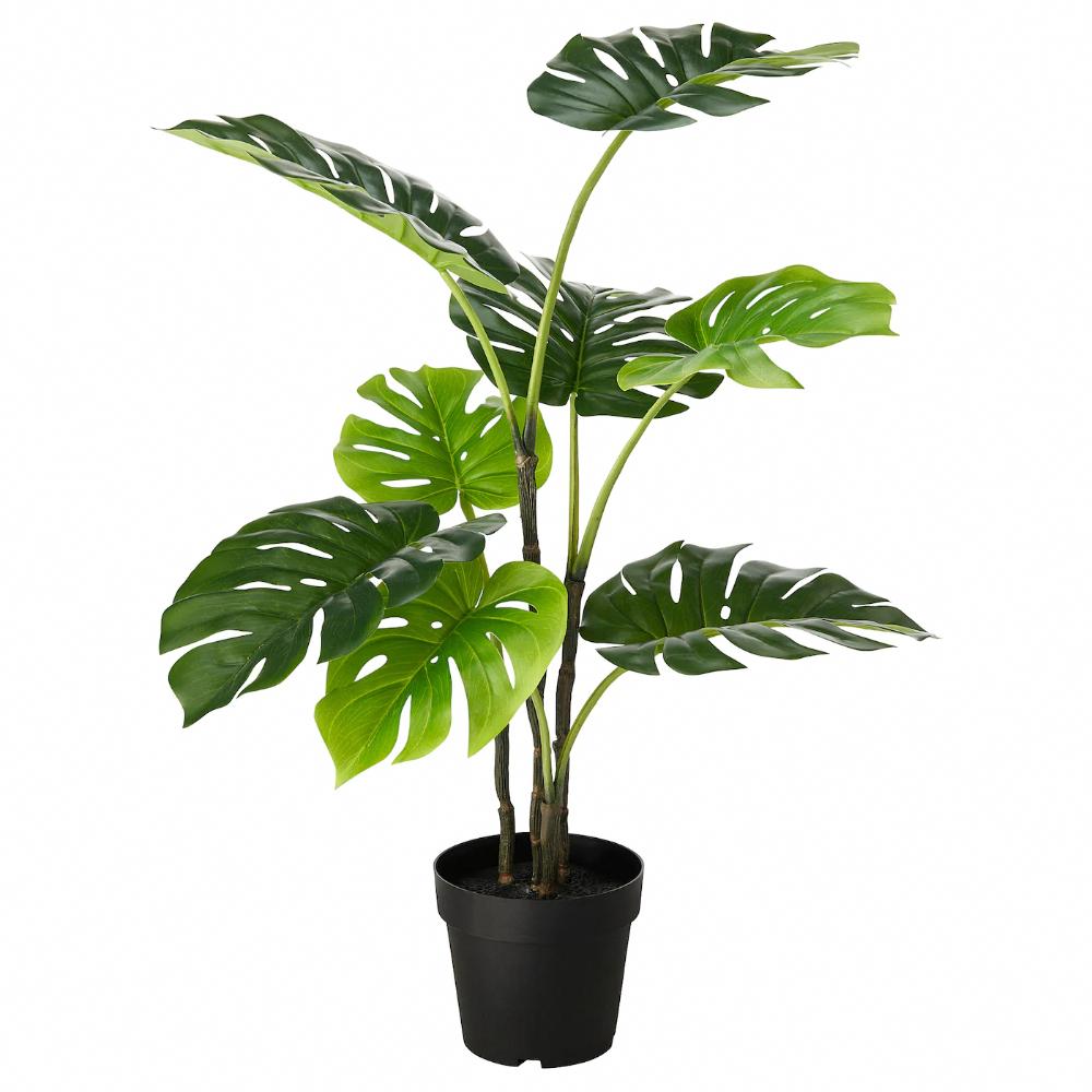 Fejka Artificial Potted Plant Indoor Outdoor Monstera Ikea In 2020 Artificial Potted Plants Bathroom Plants Artificial Plants