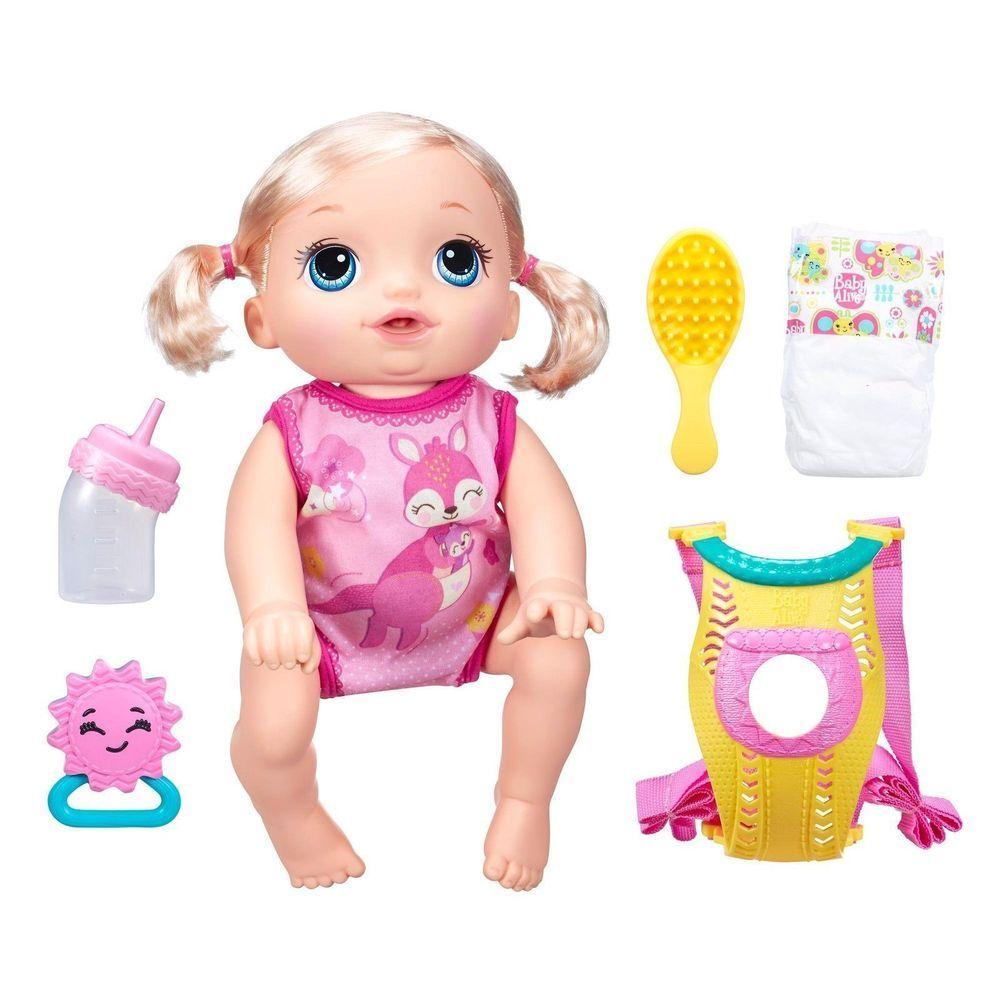 Baby Alive Baby Go Bye Bye Doll Blonde Speaks English Spanish Brand New Hasbro Dolls Mainan Produk Buket
