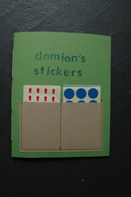 DIY Sticker Book/Album - pages are made by ironing a sheet of paper between