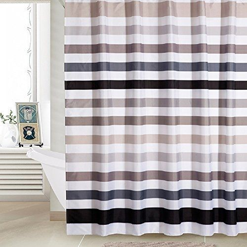 Ufaitheart Stripe Shower Curtain Stall Size Shower Curtain 36 X 72 Inches  Fabric