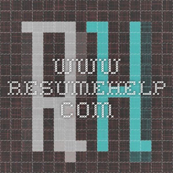 wwwresumehelp Resume help Pinterest Resume help and - uncc resume builder