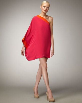 M Missoni One-Shoulder Colorblock Dress