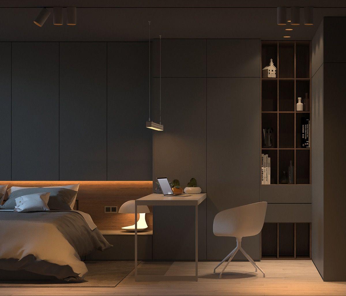 Scandinavian Bedroom Curtains Bedroom Chandeliers Menards Bedroom Athletics Mule Slippers Bedroom Colour Combination: Warm Interior Design With A Soft Lighting Scheme