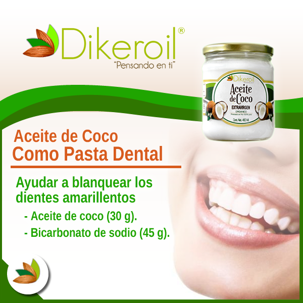 pasta dental casera con aceite de coco