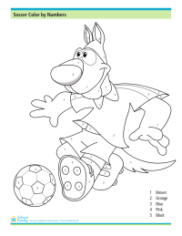 soccer color by numbers worksheet riot free coloring pages preschool worksheets color. Black Bedroom Furniture Sets. Home Design Ideas