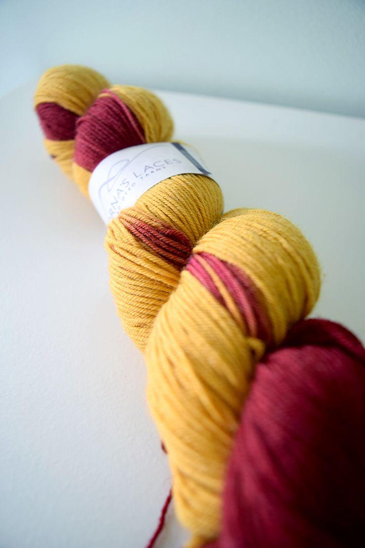 A Good Yarn Sarasota Lornas Lace Shepherd Sock in Gryffindor colors ...