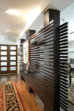 Slat Wall Modern Dining Room