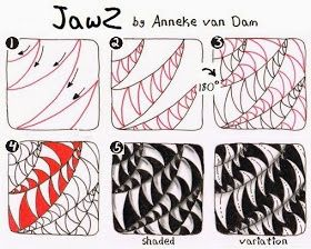 Anneke (Merry-Go-Round): JawZ, a new tangle pattern