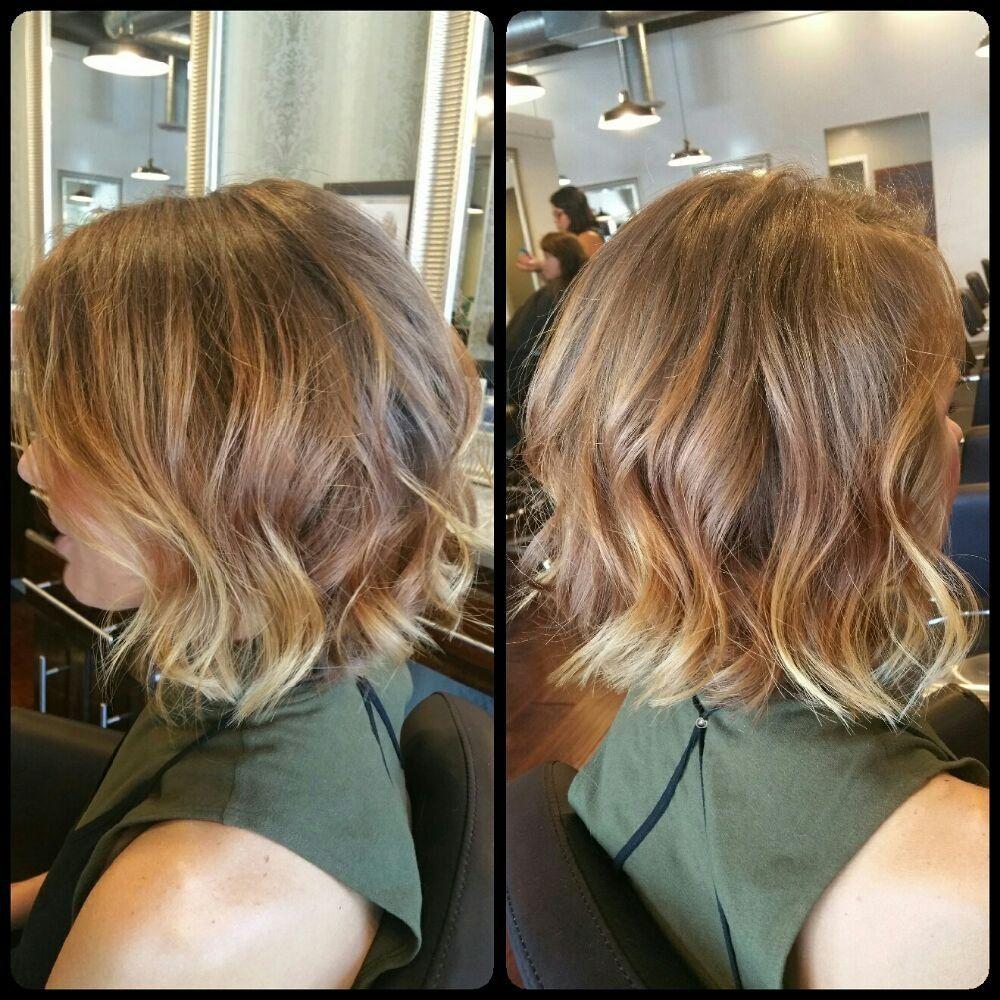 Blunt Bob Haircut With Balayage Highlights Yelp Hair