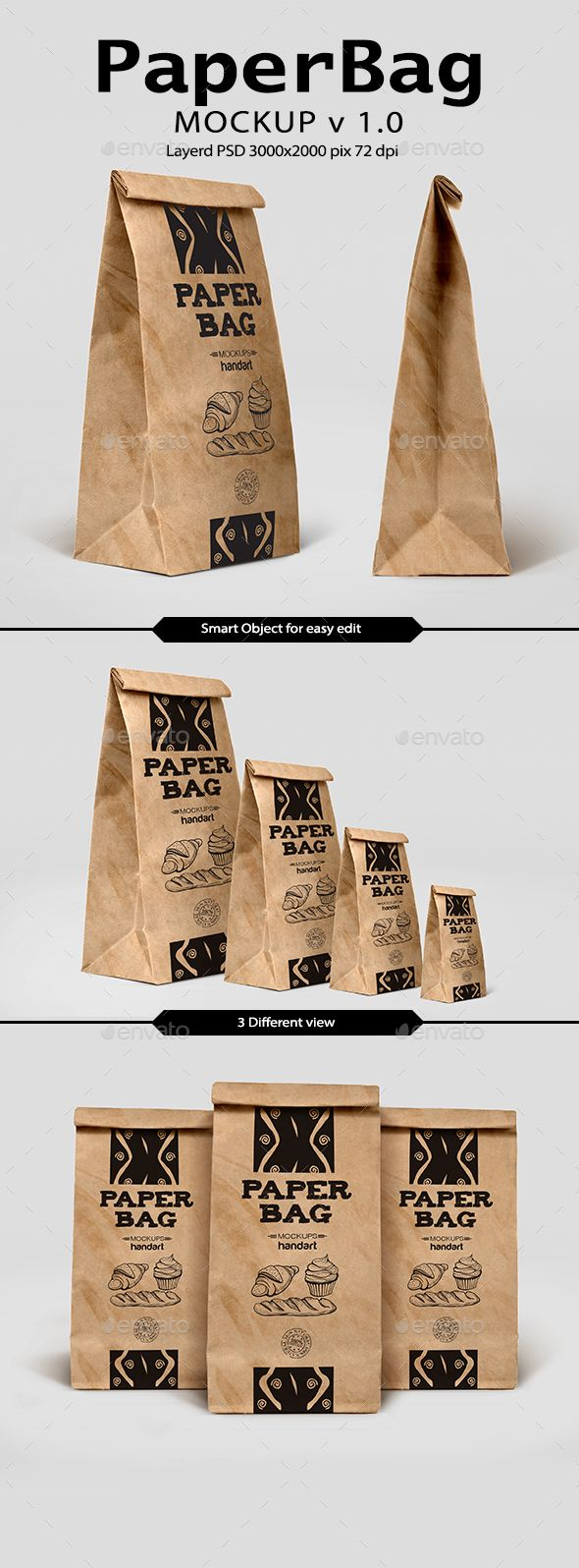 Download Paper Bag Mockup 1 0 By Handart Present Your Pack Design In Realistic View You Can Use My Mockup For Your Bran Tea Packaging Design Bag Mockup Paper Packaging