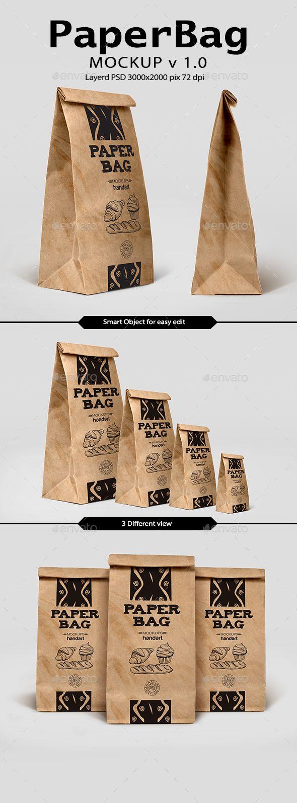 Download Paper Bag Mockup 1 0 Tea Packaging Design Bag Mockup Paper Bag