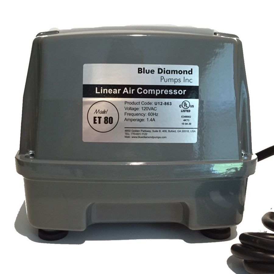 Details About Blue Diamond Et80 Septic Air Pump Aerator Compatible With Hiblow Hp80 Blue Diamond Air Pump Pumps