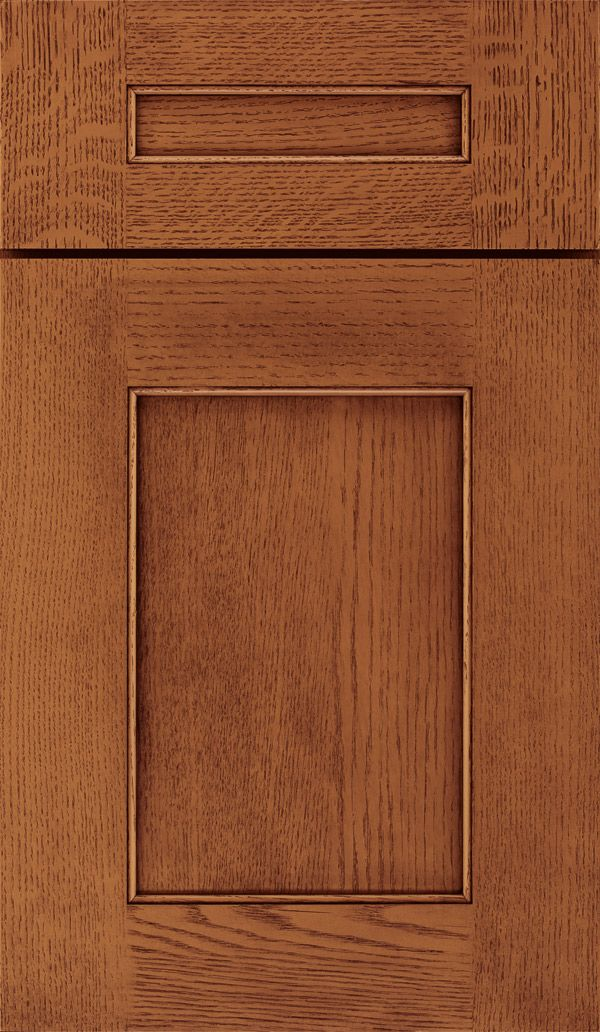 Sloan Quartersawn Oak Recessed Panel Cabinet Door In Brandywine